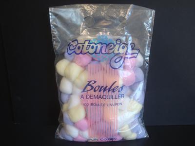 Colored cotton balls